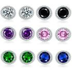 Exquisite Jewellery 18K White Gold Filled Crystal Topaz Women Lots Stud Earrings