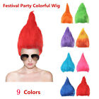 Erwachsene Troll Art Festival Party Bunte Elf Pixie Perücke Haar Cartoon Cosplay