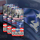 New England Patriots Football Ticket Style Sports Party Invitations on eBay
