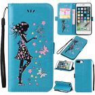 Fairy Girl Butterfly PU Leather ID Card Cover Case For Apple iPhone 6S 7 8 Plus
