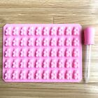 50 Cavity Mini Silicone Gummy Bear Sweet Mould Chocolate and dropper Pink