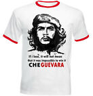 CHE GUEVARA IF I LOSE QUOTE - RED RINGER TSHIRT S-M-L-XL-XXL