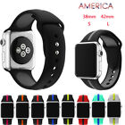 For Apple Watch Series 1/2 38MM 42MM iWatch Sports Silicone Bracelet Strap Band