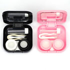 Mini Contact Lens Storage Case Box Travel Kit Container with Solution Bottle