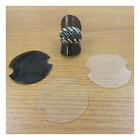 10, 25, 100pcs Plastic Ring Jewellery Display Clear Black Disc Stand Holder