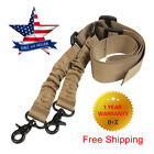 Adjustable Tactical Gun Sling 2 Two Point Rifle Hook Dual Bungee For AR15 M4 M16