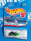 Hot Wheels 1998 First Editions #21 Go Kart Flour Green w/ 5SPs