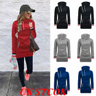 UK STOCK Womens Warm Hoodie Sweatshirt Lady Hooded Sweater Coat Jumper Pullover
