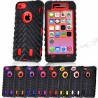 Rugged High Impact 3 in 1  Combo Defender Tyre Armor Case For iPhone 4 4S 5C
