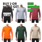 PROCLUB PRO CLUB MENS CASUAL LONG SLEEVE T SHIRT HEAVYWEIGHT SHIRTS BIG AND TALL image