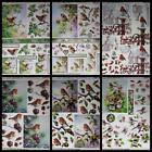 3D A4 Die Cut Paper Tole Decoupage Birds Robins Wren 1 - 2 pictures No Cutting
