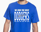 "Los Angeles Dodgers ""We Own The West"" NL WEST MLB Champions 2013-2018 Graphic T on Ebay"