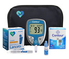 Glucometer Blood Glucose Bayer Meter Starter Kit Sugar Monitoring - 10 strips