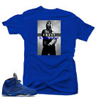 Shirt to match Air Jordan Retro 5 Blue Suede Sneakers.Trust NoBody Royal tee