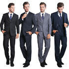Men's Suits 3 Pieces Short Two Button Single-breasted Formal Suits Wedding Suits