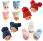 Baby Boy Girl Winter Cable Knit Knitted Double Single Pom Pom Bobble Hat *New*