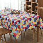Tablecloths Linen Cotton Fabric Square Kitchen Table Round Cover Scrawl Saury