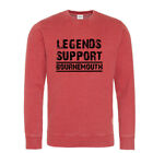 Bournemouth Sweatshirt Legends Support Red Washed effect Black logo