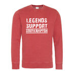 Southampton Sweatshirt Legends Support Red Washed effect Red White logo