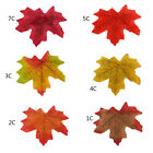 200 Pcs Artificial Fake Maple Leaves Leaf Autumn Fall Wedding Party Home Decor