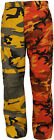 Orange & Yellow Camouflage Two Tone Fashion Icon BDU Cargo Pants Trousers