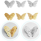 24 Pcs Set Gold/silver3d Diy Wall Sticker Butterfly Home Room Decor Decorations