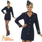 Adult Flight Attendant Costume Sexy Air Stewardess Ladies Womens Fancy Dress