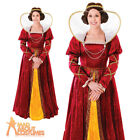 Adult Queen Elizabeth Costume Tudor Medieval Ladies Womens Fancy Dress Outfit