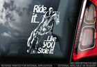 'Ride it like you stole it!' - Car Window Sticker - Equestrian Decal Sign - V02