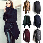 Womens Winter Warm Trench Coat Slim Long Jacket rregular Casual Parka Cardigan