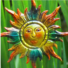 Metal Cartoon Sun Plant Stake Garden Outdoor Lawn Yard Patio Home Decor