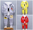 Внешний вид - 3pcs Baby toddler clothes boys coat+T shirt +pants tracksuit outfits set cartoon
