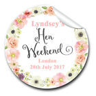 GLOSSY Personalised Watercolour Flowers HEN NIGHT PARTY bags labels STICKERS