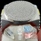 MENS BIG BOLD XL REAL WHITE GOLD STERLING SILVER LAB DIAMOND DESIGNER RING BAND