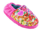 Girls Children Kids Shopkins Pink Pull On Slippers Cosy Fur Lining Character New image