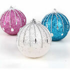 Glitter Christmas Tree Ball Bauble Hanging Xmas Party Ornament Decoration Home