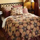 5PC TEA STAR PRIMITIVE CABIN FARMHOUSE QUILT SHAMS PILLOWS CASES BED SET VHC