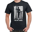 I Don't Kneel T-Shirt American Flag USA Pride Political Patriotic I stand S-6XL image