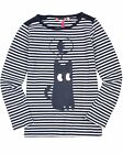 Nono Girl's Striped T-shirt with Print, Sizes 4-14