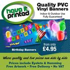PVC Vinyl Personalised Engagement Birthday Wedding Anniversary Function Banners