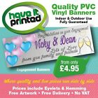 Heavy Duty PVC Indoor/Outdoor Banners Births Christenings Engagements Weddings