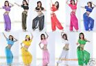 Brand New Sexy Belly Dance Costume Set 3PCS(Top, Pants And Scarf) Free Shipping