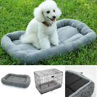 S/M Pet Dog Cat Bed Puppy Cushion Pad Soft Warm Kennel Mat Blanket Gray Non-slip
