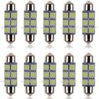 10x 31 36 39 41mm C5w Festoon Led Canbus Interior Light Number Plate Bulb 6000k