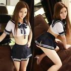 US Women Sexy Japan Sailor School Girl Uniform Adult Cosplay Costumes Lingerie