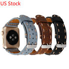 Vintage Handmade Genuine Leather Band Belt Strap for Apple Watch Series 3 2 1 image