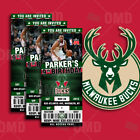 Milwaukee Bucks Ticket Style Sports Party Invites on eBay