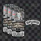 San Antonio Spurs Ticket Style Sports Party Invites on eBay
