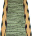 Dean Washable Non-Slip Boxer Green Washable Carpet Rug Runner