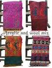 Colourful Paisley Acrylic Tassels Wool Blend Pashmina Cashmere Scarf Shawl Wrap